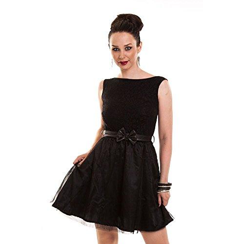 Kurzes schwarzes kleid mit ruckenausschnitt