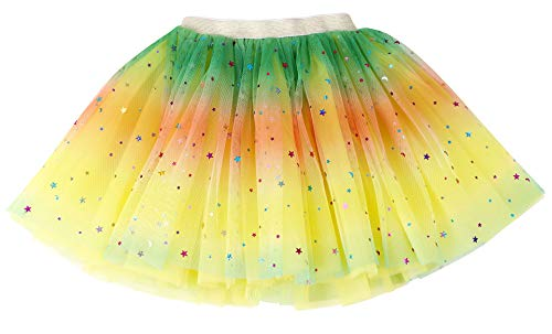- Simplicity Baby Girl Tutu Skirt Yellow Rainbow Princess Ballet Tutu for6-18Month