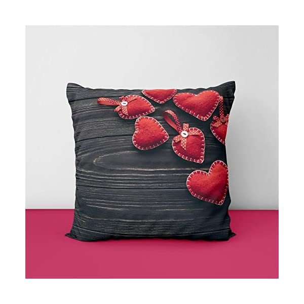 41IQkP9IRmL Red Heart Square Design Printed Cushion Cover