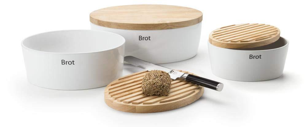 Continenta Brottopf Oval mit Holzdeckel
