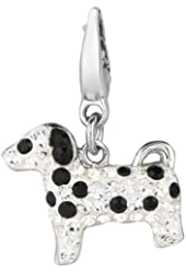 Sterling silver Crystal Dalmation (Charm)