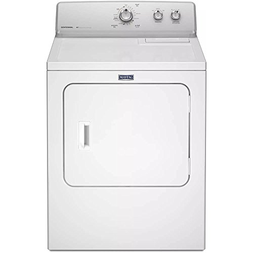 Whirlpool MEDC215EW Maytag 7.0 Cu ft. Large Capacity Electric Dryer with Wrinkle Control, White