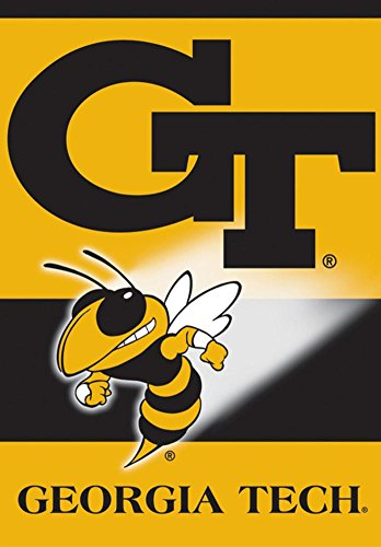 NCAA Georgia Tech Yellow Jackets 2-Sided House Banner Flag 28 x 40in (Yellow Ncaa Jackets)