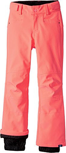 Roxy Big Girls' Creek Softshell Snow Pant, Neon Grapefruit, 14/XL by Roxy