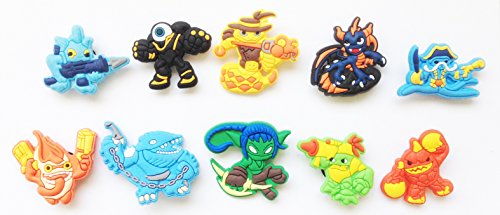 Skylanders Shoe Charms for Croc Shoes & Wristband Bracelet 10 Pcs