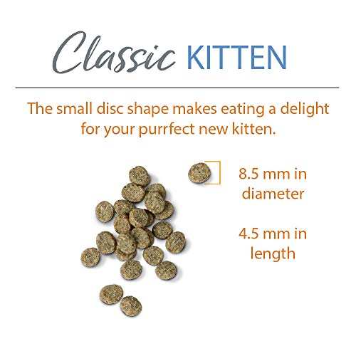 Chicken Soup for the Soul Dry Kitten Food, Chicken, Brown Rice, Pea Recipe, 13.5 lb. Bag | Soy Free, Corn Free, Wheat Free | Dry Cat Food Made with Real Ingredients