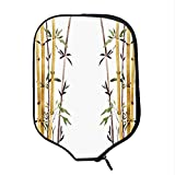 YOLIYANA Bamboo House Decor Durable Racket Cover,Bamboo Grove Calm Your Mind Slow Down Zen Relax Hand Drawn Style Artwork for Sandbeach,One Size
