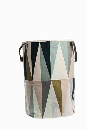 Hervorragend Ferm Living Wäschekorb Spear Laundry Basket Aus 100% Baumwolle Mit  Lederhenkeln