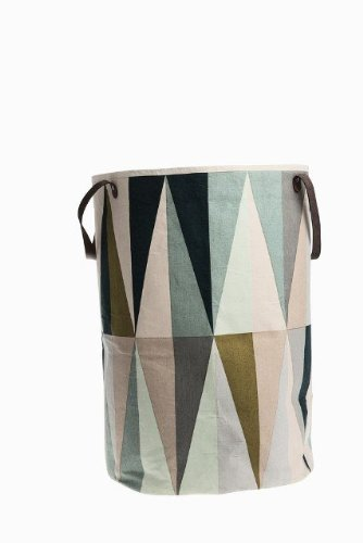 Great Ferm Living Wäschekorb Spear Laundry Basket Aus 100 % Baumwolle Mit  Lederhenkeln Awesome Ideas