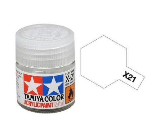 Tamiya Models X-21 Mini Acrylic Paint, Flat Base