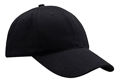 Custom Ball Caps (MIERSPORTS Cotton Baseball Cap Adjustable Hat For Men and Women, Black)
