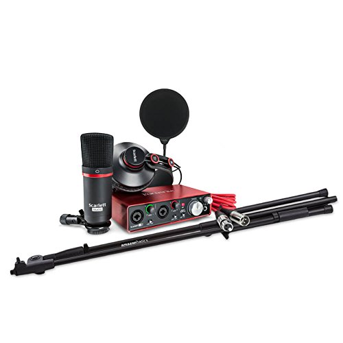 Price comparison product image Focusrite Scarlett 2i2 Studio USB Audio Interface and Recording Bundle,  Includes Pop Filter and Boom Stand