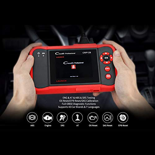 LAUNCH CRP123 OBD2 CReader ABS SRS Transmission Engine Code Reader Diagnostic Scanner by LAUNCH (Image #5)
