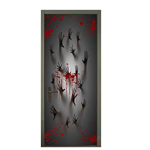 Sticker, Halloween Vampire Zombie Party Decorations Decals Wall Stickers Covers (78X30 inches)