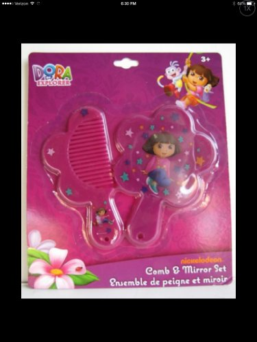 Dora the Explorer Comb & Mirror Set