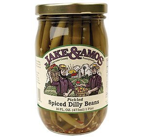 - Jake & Amos Spiced Dilly Beans - 16 Ounce
