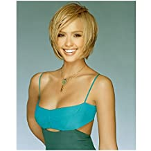 Jessica Alba in Teal Dress Striking a Pose with Short Hair 8 x 10 Photo