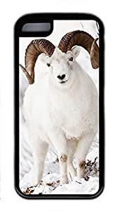 iCustomonline White Goat Soft Case Fits Cover Back for iPhone iphone 5C TPU Black
