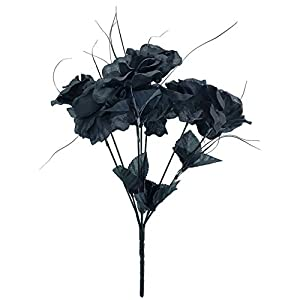 MM TJ Products Artificial Black Roses Bouquet (1) 91