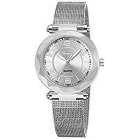 Stainless Steel Watches Women Ladies Casual Dress Quartz Wrist Watch,Outsta Quartz Round Case Watch Hot!!!