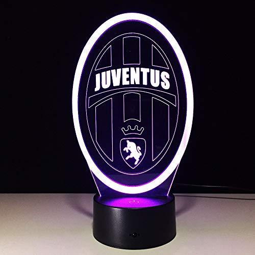 - FSEWFS Italia Inter Fc Fans Milan 3D Soccer Lamp Juventus Club 7 Colful Football Night Light Best Gifts F Kids Dad Friends Ship