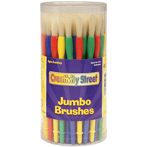 - Creativity Street Jumbo Paint Brush Assortment, 58 Pack (AC5161)