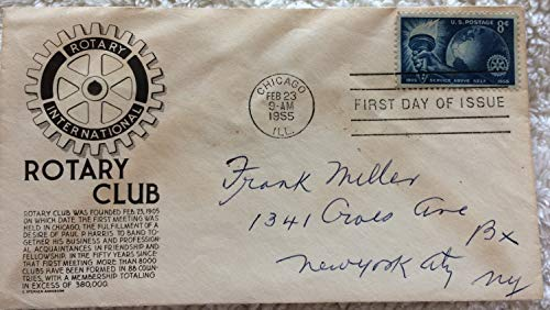 Rotary Club Anniversary First Day of Issue envelope and stamp, 1955 ()