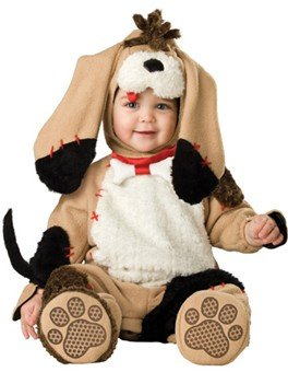 InCharacter Costumes Baby's Precious Puppy Costume, Tan/Black/White, 6-12 Months