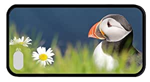 Hipster grove iPhone 4 cover atlantic puffin TPU Black for Apple iPhone 4/4S by Maris's Diary