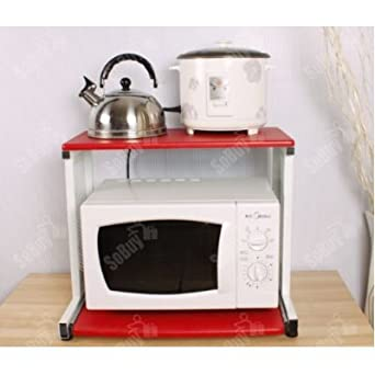SoBuy Estante para microondas, mesa auxiliar, estante de ...