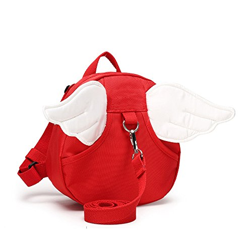 Find Discount Anti Lost Backpack for kids, Haneye Walking Safety Belt Harness Toddler Reins Strap with Leash (Red)