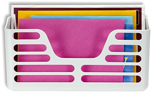 Officemate Magnet Plus Magnetic, Utility Pocket, White (92541) - Magnetic Triple File Pocket