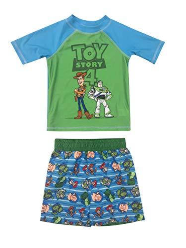 (Toddler Boy 2 Piece Toy Story Rash Guard and Swim Trunk Set 3T)