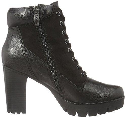 Tamaris 25296, Botas Militar para Mujer Negro (BLACK 001)