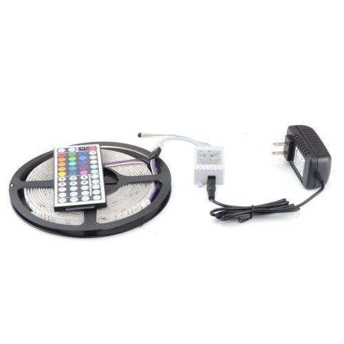 KLAREN 5M 16.4Ft RGB 5050SMD 300LED Waterproof Flexible LED Light Strip lamp + 44Key IR Remote (Supports Max 5 meters of RGB LED flexible strips) (3528 led string light)