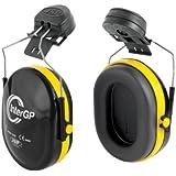 JSP AEK010-005-300 InterGP Helmet Mounted Ear Defender, Black/Yellow