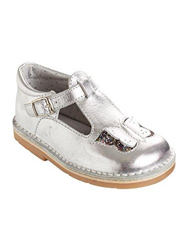 Vertbaudet Leder-Spangenschuhe für Mädchen Silber