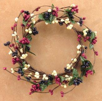 Country Mix Pip Berry Ring Mini Wreath Ivory Navy Burgundy B