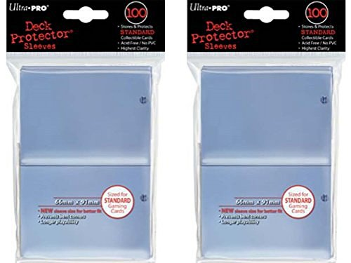 200 Ultra-Pro Clear Deck Protector Sleeves 2-Packs – Standard Magic the Gathering Size