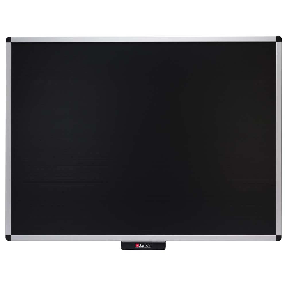 Justick by Smead, Premium Aluminum Frame Bulletin Board, 48''W x 36''H, with Electro Surface Technology, Black (02563)