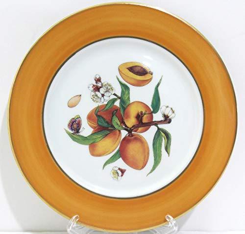 Email De Limoges Dessert/Pie Plate Apricot Fruit 7 1/2