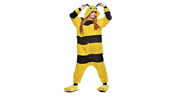 Amazon.com: Newcosplay Unisex Adult Cosplay Pyjamas Yellow Bee Halloween Onesie Cartoon Costumes (L): Clothing