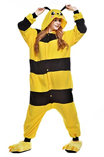 JINGCHENG Unisex cosplay pyjamas halloween onesie Bee Animal costume (M, - Onesie Fedex
