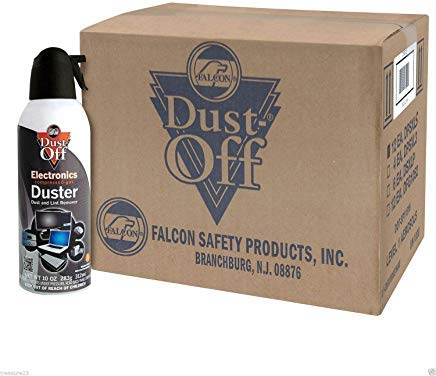 (12 pk Compressed Air Computer TV Gas Cans Duster 10 oz Dust Off Keyboard Laptop)