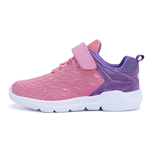 AFFINEST Boys Girls Lightweight Sneakers Athletic Easy Walk Casual Sport Running Shoes for Kids(Pink,26) by AFFINEST (Image #2)