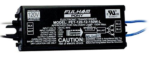 Fulham PET-120-12150WL PONY Electronic Transformer, 150W 150w Electronic Transformer