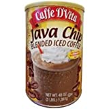 Caffe D'vita Java Chip Latte Blended Iced Coffee Mix – Gluten Free! – 3 Lb. Cannister (48 Oz) For Sale