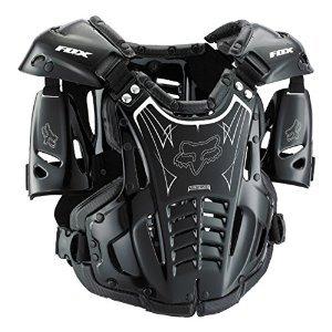 Fox Racing Airframe Men's Roost Deflector Off-Road Motorcycle Body Armor - Black / Medium (Motorcycle Deflector Roost)