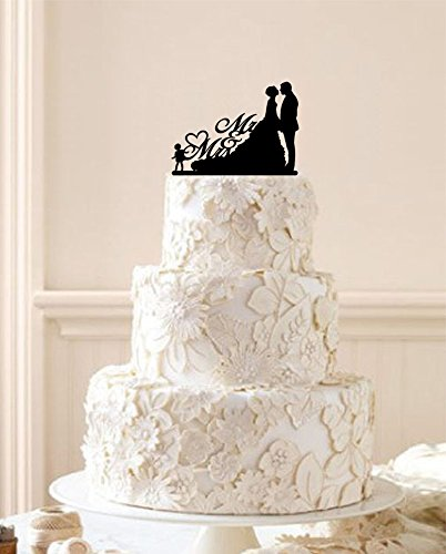 Amazon.com: Personalized Bride Groom with Their Child Silhouette ...