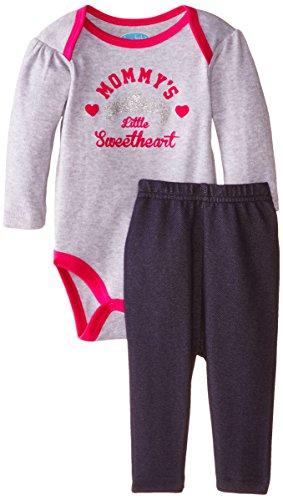 BON BEBE Baby-Girls Newborn Mommy's Little Sweetheart Bodysuit with Knit Denim Jegging Set, Multi, 0-3 Months